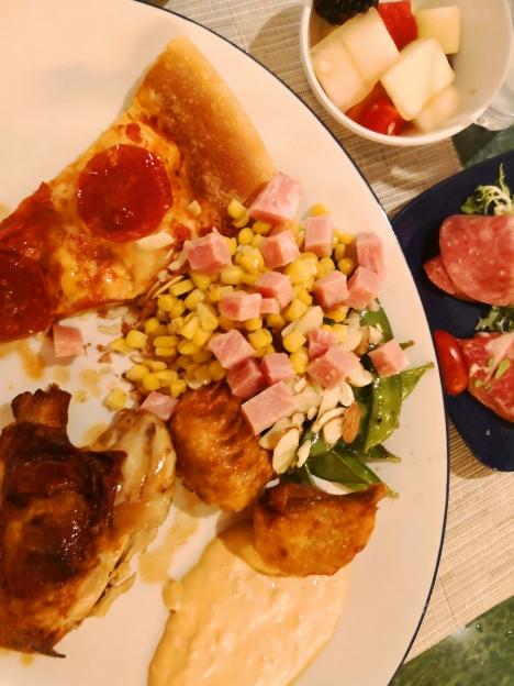 Breakfast meal in Ms Maasdam