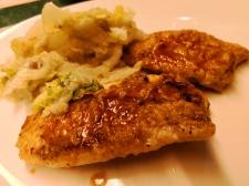 Dinner meal in Ms Maasdam