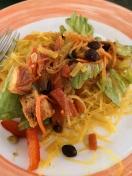 Salad dinner in Ms Maasdam