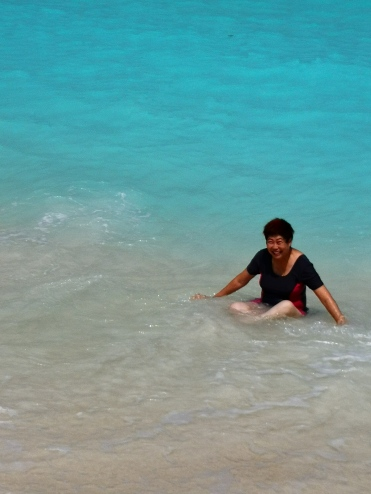 Pearly Kee in Uligamu island, Maldive